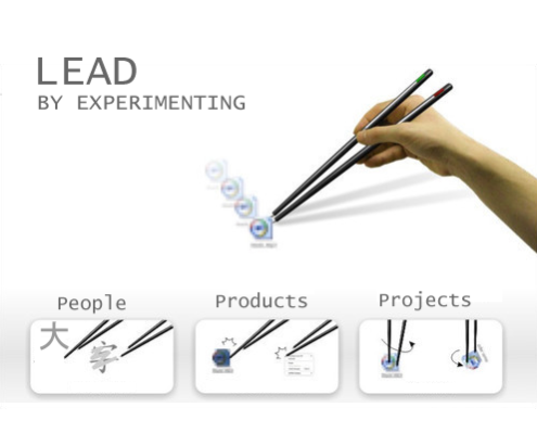 lead by experimenting